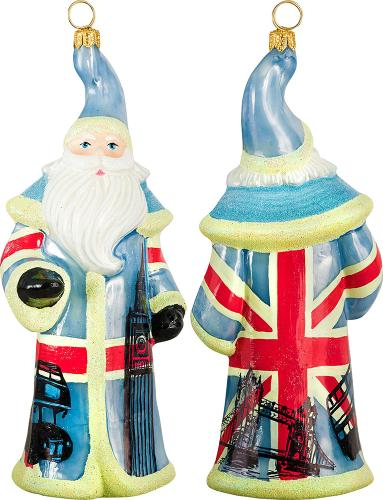 British Santa with Flag