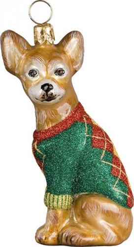 Chihuahua w/Argyle Sweater