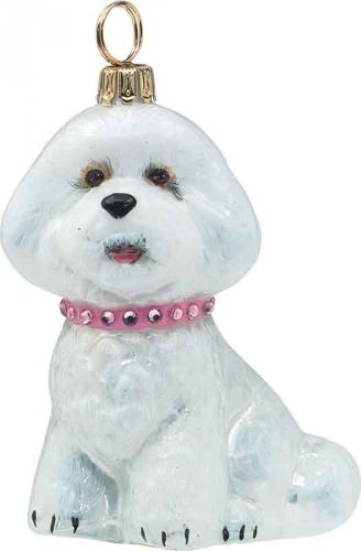 Bichon Frise <br /> w/Pink Jeweled Collar