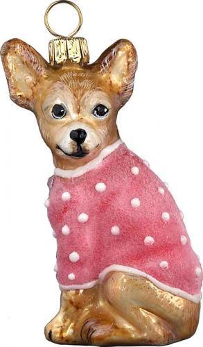 Chihuahua w/Pink Velvet Coat