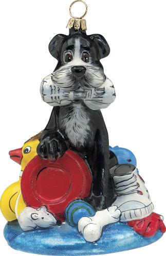 Fetch a Holic Glass Dog Ornament