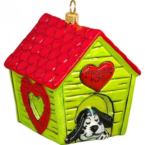 Home Sweet Forever Home with Hearts Dog Ornament