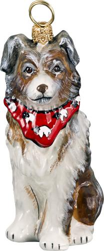 Australian Shepherd with Bandana Dog Ornament