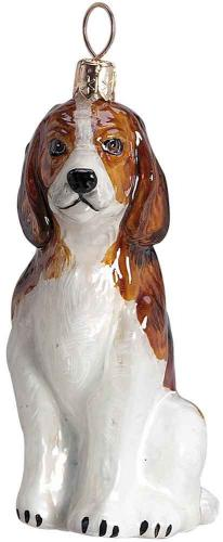 Beagle Glass Dog Ornament