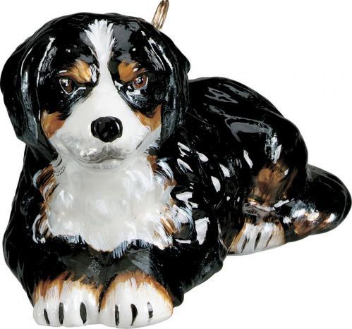 Bernese Mountain Dog Glass Dog Ornament
