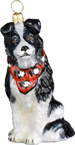 Border Collie w/Bandana Dog Ornament