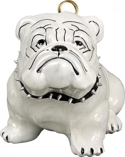 Bulldog w/Studded Collar Dog Ornament