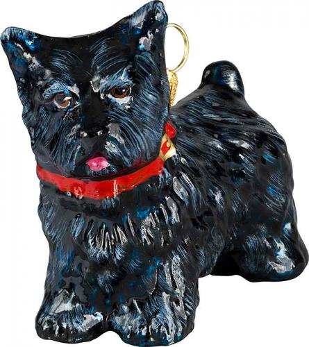 Cairn Terrier w/Red Collar Dog Ornament