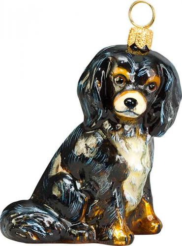 Cavalier King Charles Spaniel (Back/Tan) Dog Ornament