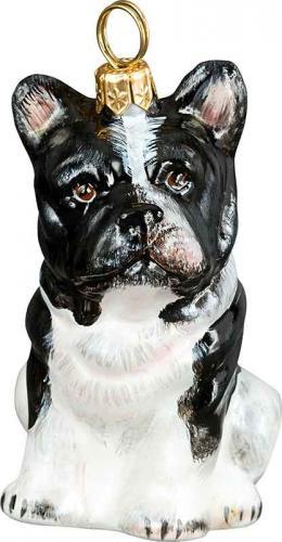 French Bulldog (Black & White) Dog Ornament