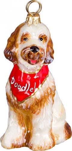 Goldendoodle w/Bandana Dog Ornament