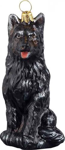 German Shepherd (Black) Dog Ornament