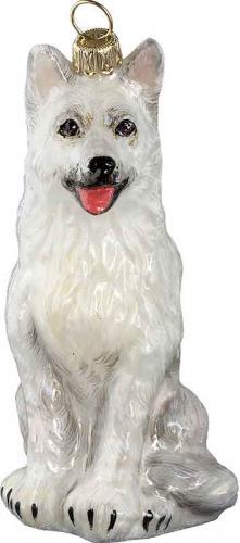 German Shepherd (White) Dog Ornament