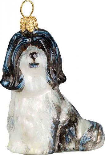 Havanese (Black/White) Dog Ornament
