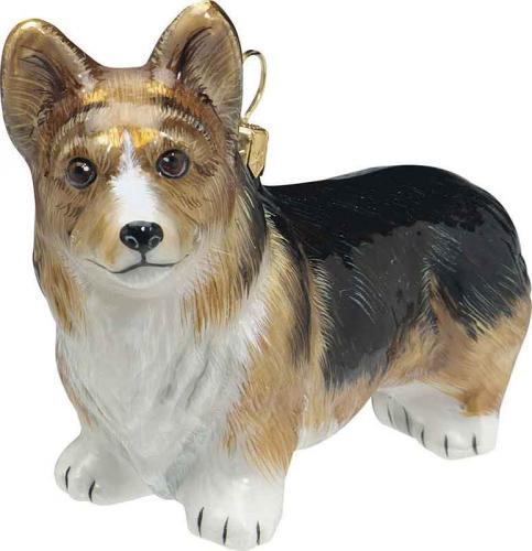 Pembroke Welsh Corgi (Tri) Dog Ornament