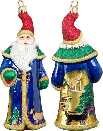 Dachshund Waiting for Santa Ornament