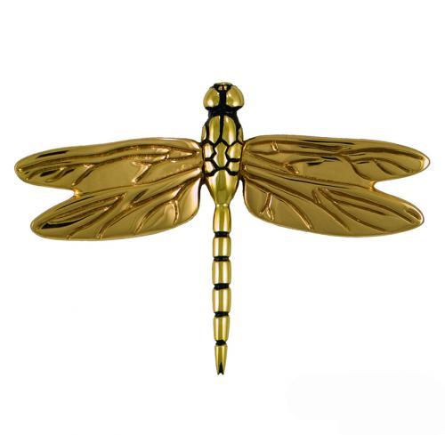 Dragonfly Premium Size Door Knocker - Brass & Bronze