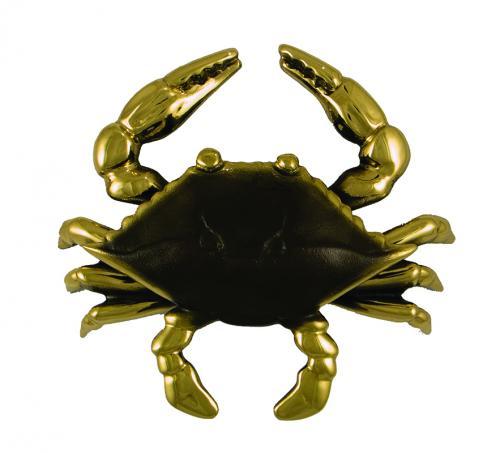 Blue Crab Premium Door Knocker - Brass