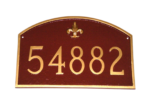 Decorative Arch Plaque - Fleur de Lis Prestige Arch
