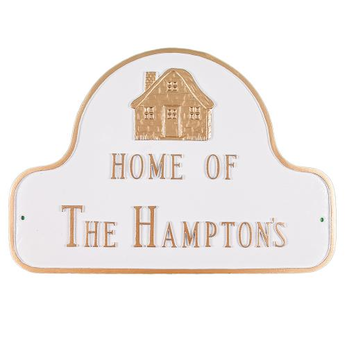 Decorative Arch Plaque - Style: Home Of