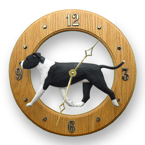 AmStaff Terrier Dog Wall Clock
