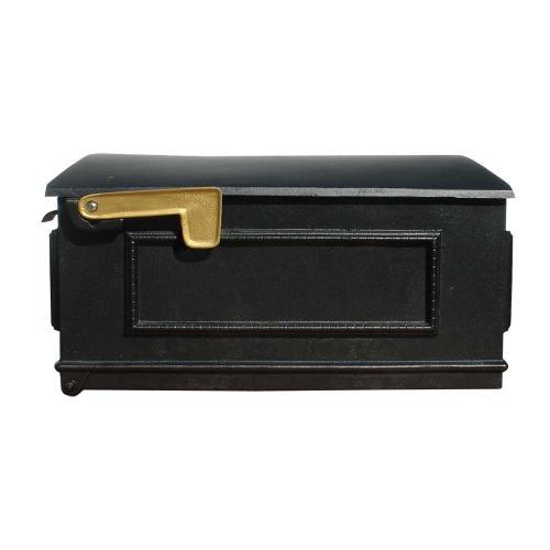 Lewiston Post Mount Mailbox shown in Black