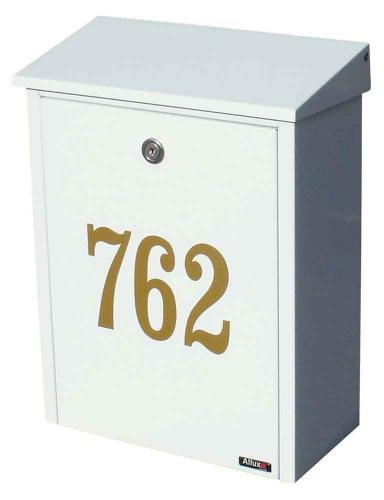 Allux Large Locking Steel Mailbox