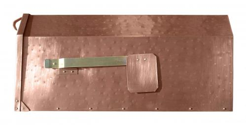 Hammered Copper Post Mount Mailbox