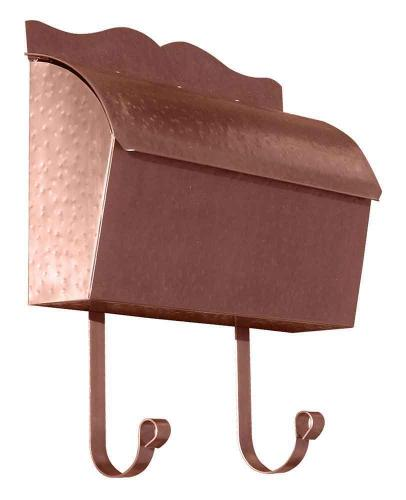 Hammered Antique Copper Roll Top Wall Mailbox