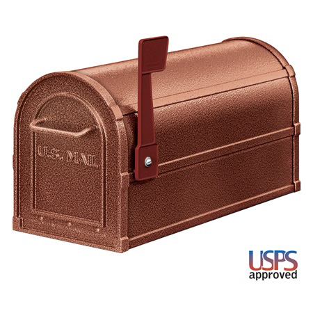 Deluxe Post Mount Mailbox shown in Mocha