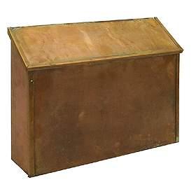 Antique Brass Mailbox - Style: Horizontal