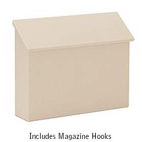 Beige Traditional Horizontal Wall Mailbox
