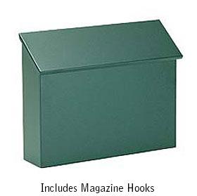 Green Traditional Horizontal Wall Mailbox