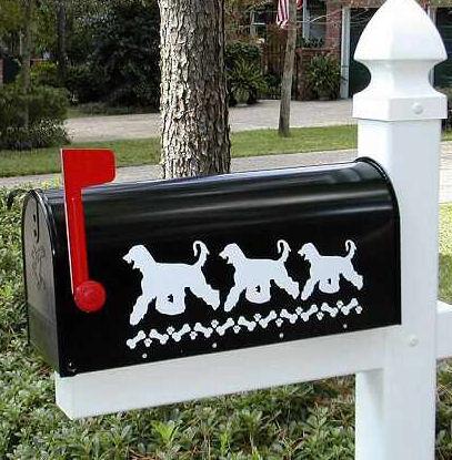 Afghan Hound Dog Mailbox