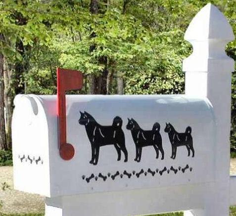 Akita Dog Mailbox
