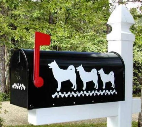 Alaskan Malamute Dog Mailbox