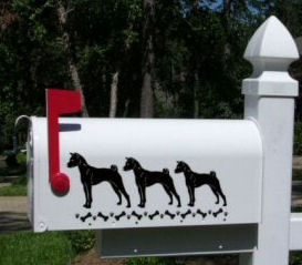 Basenji Dog Mailbox