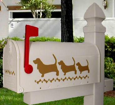 Basset Hound Dog Mailbox