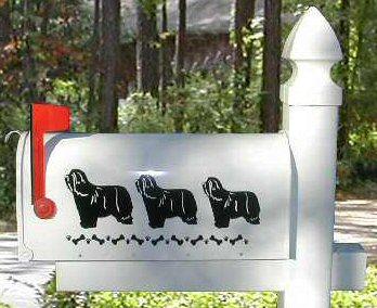 Bearded Collie Dog Mailbox