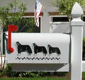 Bernese Mountain Dog Mailbox