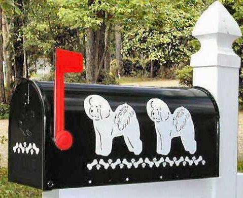 Bichon Frise Dog Mailbox