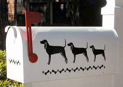 Black & Tan Coonhound Dog Mailbox