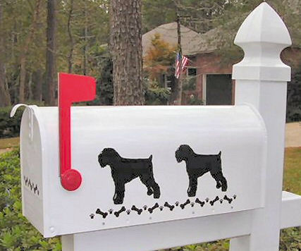 Black Russian Terrier Dog Mailbox