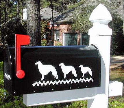 Borzoi Dog Mailbox