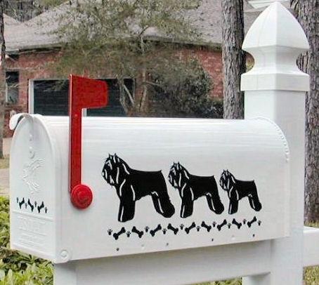 Bouvier des Flandres Dog Mailbox