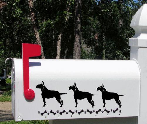 Bull Terrier Dog Mailbox