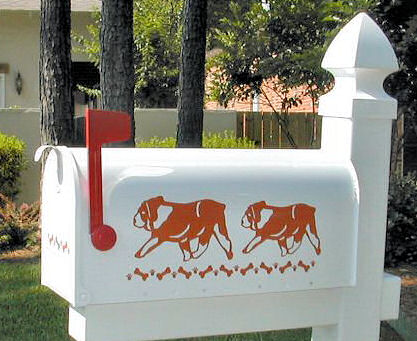 Bulldog Dog Mailbox