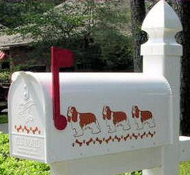 Cavalier King Charles Spaniel Dog Mailbox