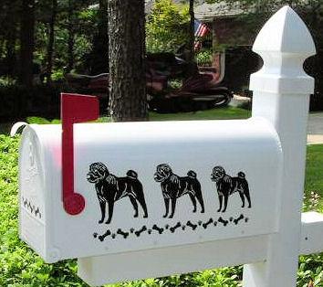 Chinese Shar Pei Dog Mailbox