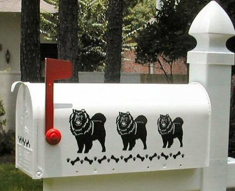 Chow Chow Dog Mailbox